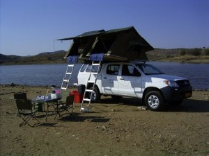 Caprivi Car Hire Hilux Double Cab Camping